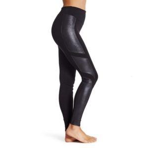 Spanx high waist faux leather panel leggings